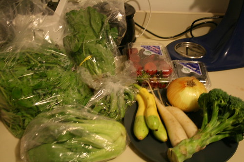 So many veggies in a bushel! I dont even know all their names.