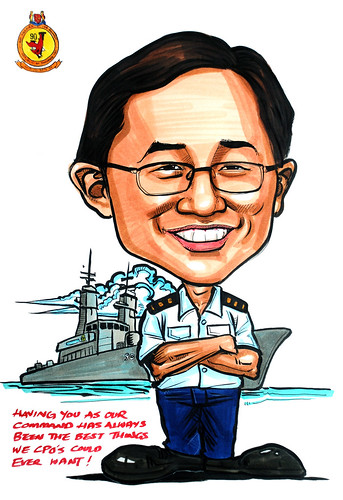 Caricature for Republic of SIngapore Navy