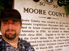 Me at the Moore County marker