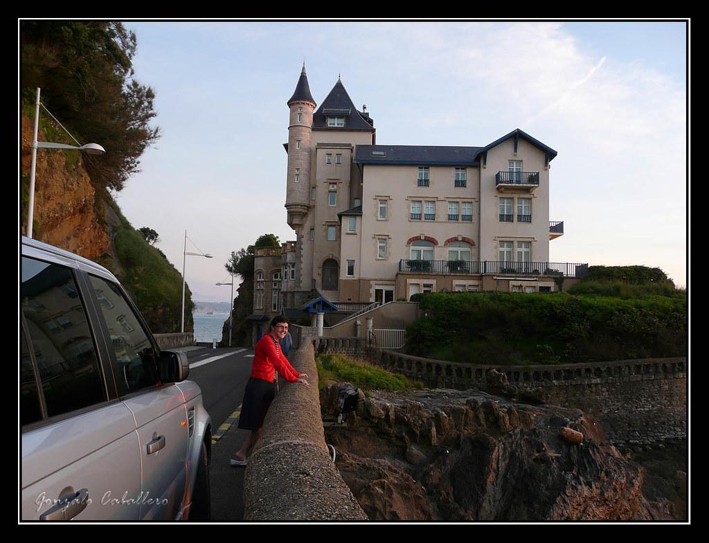 Atardecer sobre la Villa Belza (Biarritz, Francia)