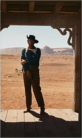 I didnt think John Fords directing stood the test of time in The Searchers. But John Wayne did.