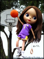 This one is for the Lakers!! (Voodoolady ) Tags: game basketball slam uniform barbie rr mari finals blythe lakers champions dunk bl losangeleslakers roseyred