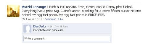 astrid facebook update