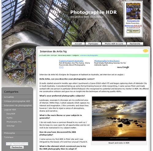 Online Interview with photo-hdr.com (French Website)