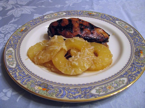 Grilled Chicken with Rum Pineapples