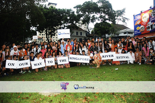 Participants of one of Singapore's first Flash Mob (Courtesy of nuffnangsg)