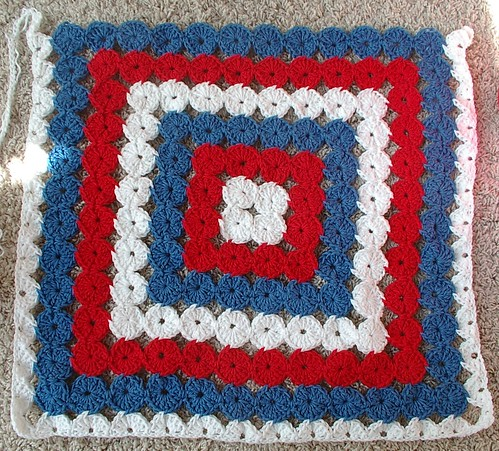 patriotic afghan yarn