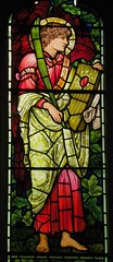 Angel with psaltery, Hatfield (robin.croft) Tags: church stainedglass hatfield anglican hertfordshire burnejones etheldreda morrisco