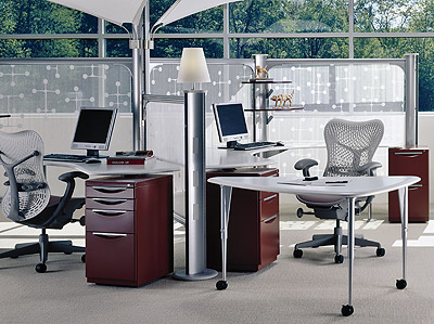Herman Miller Avive tables