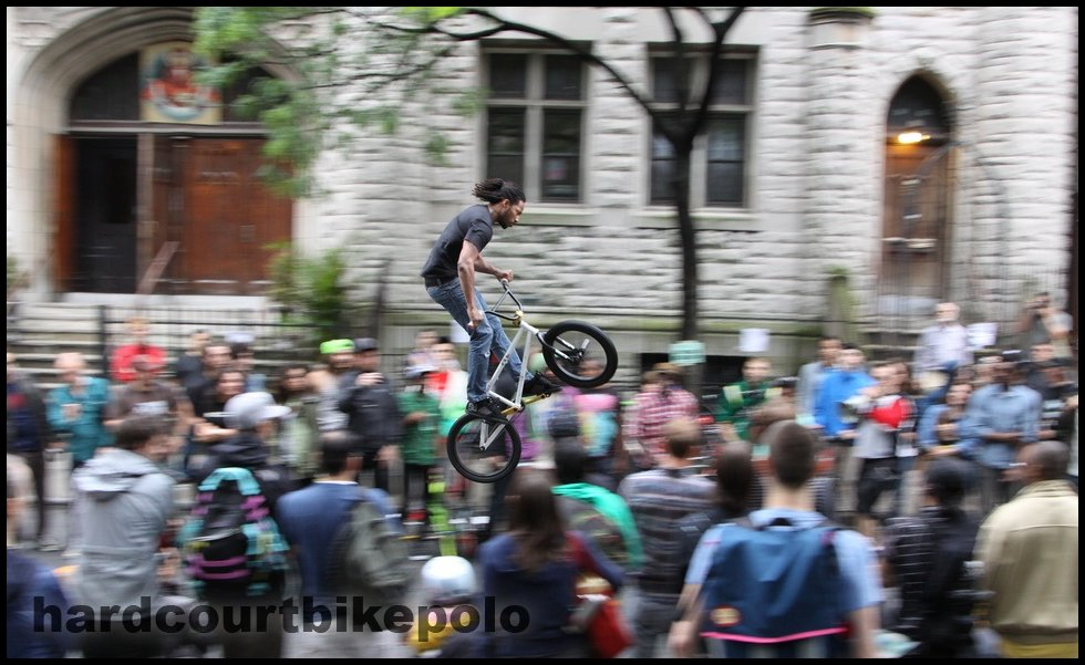 Mark thompson bulldog bike BFF NYC street party