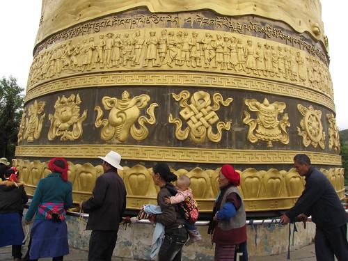 Prayer wheel in Shangri-la