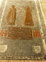 Brass monument, St Andrew - Lyddington