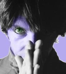 MARIOCCHIO (volamarietti) Tags: mostra pose studio book foto blu mani occhi genova viola ritratto nero luce capelli trucco