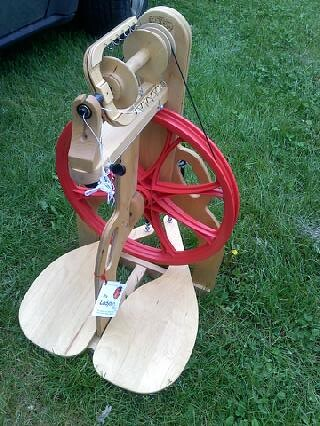 New toy!  Ladybug spinning wheel
