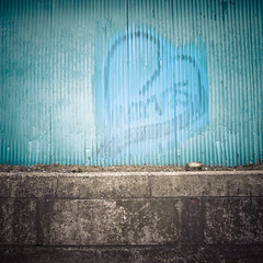 Can't Patch Over Lover, Blue Heart (jacob schere [in the 03 strategically planning]) Tags: blue art love japan metal wall square concrete graffiti tokyo heart steel painted jacob cement cant communication stop buff graff siding corrugated scribble edogawa buffed survive kasai scribbling schere  grii bsquare paintover  scherelucidcommunicationlucid hearkasai paint