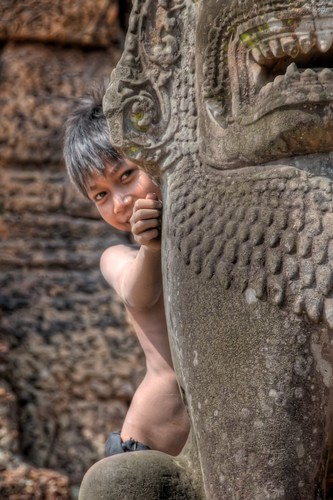 Boy at East Mebon