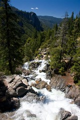 Wildcat Creek Just Below the Falls (Cliff Stone) Tags: california mountains water river landscape spring yosemite yosemitenationalpark springtime wideopenspaces sierranevadamtns canoneos40d canonefs1585is