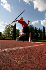 Javelin Throw (LoreVannu) Tags: ex field sport canon 350d track sigma campo 1020mm throw dg scuola pistoia f35 javelin atletica lancio giavellotto