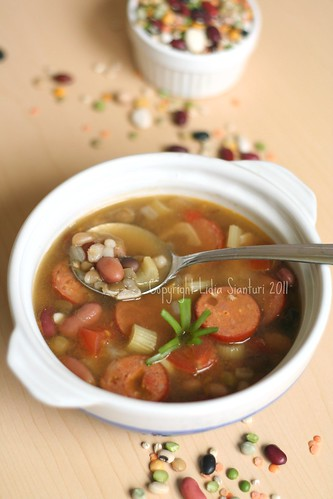 Bianca's and Jordan's Mom: Mixed Beans Soup - My Healthy Diet