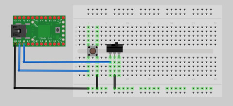Easy Program Launcher Breadboard Layout