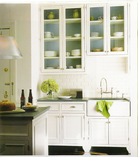 Green Cabinet Kitchen: White Kitchen + Blue And Green Accents