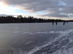 Long distance ice skating Photo