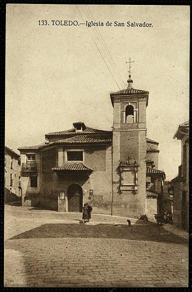 Iglesia de El Salvador de Toledo hacia 1927. Foto Grafos