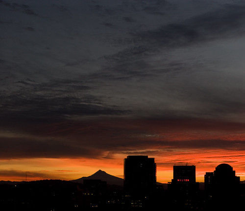 Downtown Pano January sunrise