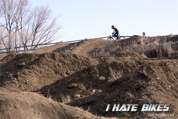 the main lines are pretty beat, but we can have fun riding anything