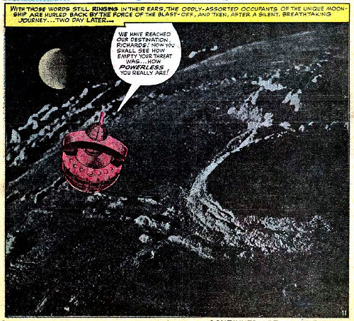 Jack Kirby photomontage from Fantastic Four #29 (August 1964)