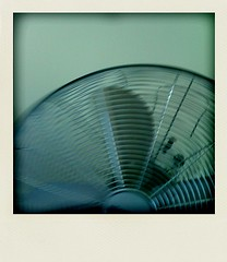 Fan (Matthew Burlem <<Book Available Now>>) Tags: stilllife motion apple electric square polaroid fan movement wire object 3g round pola blades iphone polarize poladroid httpwwwburlemphotocom