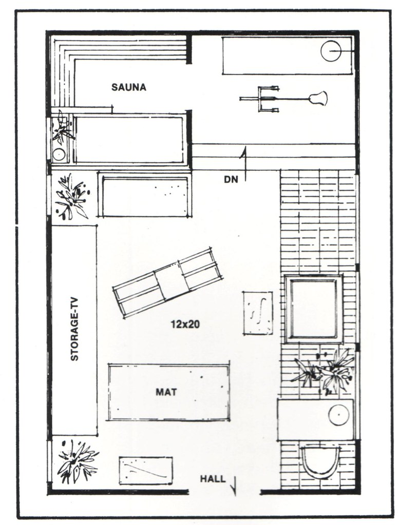 Vinyl Exercise Room floor plan