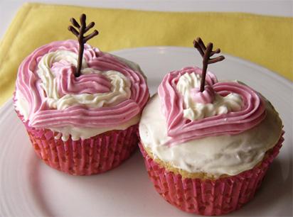 Vegantine's Day Cupid Cupcakes