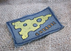 Cheese Patch (Knottwood) Tags: cheese handmade fabric silkscreen etsy patch printed