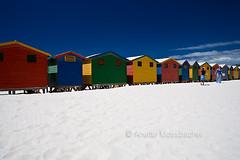 Colorful beach hutts (Anette Mossbacher) Tags: ocean trip travel sea vacation beach southafrica sand capetown huts beachhuts fineartphotos colourartaward anettemossbacher