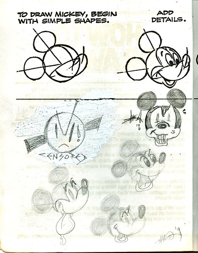 "Golden Books -  ""HOW TO DRAW : Walt Disney's Mickey Mouse and FRIENDS"" (( 1983 )) { tOkKid :: 1993, 1996 }"