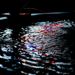 The depth of darkness to which you can descend and still live is an exact measure of the height to which you can aspire to reach. (.I Travel East.) Tags: blue red black fountain movement nikon batonrouge lousiana ripples minimalism waterfeature waterfountain cgb underwaterlighting reflecftion perkinsrowe