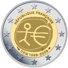 2 euro Francúzsko 2009, 10. výročie HMÚ