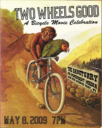 Two Wheels Good bike film festival poster