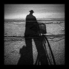Shadow (bibendum84) Tags: shadow hat ombra tram panama prada cappello alessandro binario padernodugnano