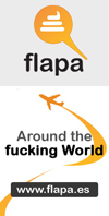 etiqueta flapa around the fucking world