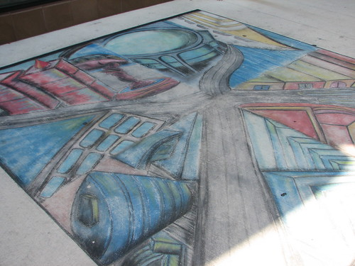 sidewalk art- no rain for so long but this looks kinda old
