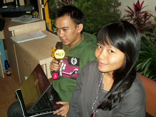 Ihwan and Puti @ MGT Radio Van