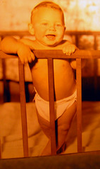 Back then, you only needed a dry diaper to make you smile. (kennethkonica) Tags: cribs diapers stocky smiles vintagekids teeth fingers shirtless baby child kid family usa midwest hoosier smile happy indianapolis indiana indy