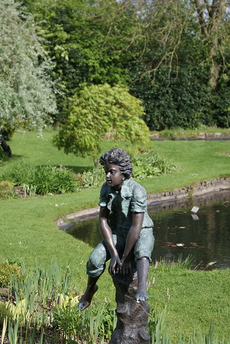 Boy Sculpture Jumping