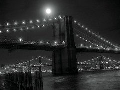 Only Vampires Around (Fabio Mandrioli  Photography) Tags: nyc newyorkcity blackandwhite bw usa ny newyork night lights vampire fabio fullmoon brooklynbridge hudsonriver vampires mandrioli fabiomandrioli