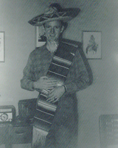Granddad dressed up in Mexican attire, not sure why