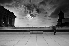 the photographer (Eloy Cortinez M) Tags: sunset sky man berlin tower clouds photo europe euro