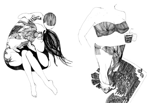 Although most of her drawings are black and white, Masha's inspiration is