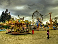 Where is everybody? (Nejdet Duzen) Tags: trip travel girl turkey amusement child ride trkiye carousel fair ferriswheel lunapark izmir ocuk fuar turkei seyahat oyun dnmedolap atlkarnca theunforgettablepictures